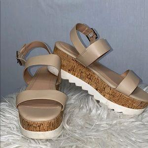 Madden Girl women's size 7 nude wedge sandal